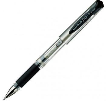 Bolígrafo Tinta gel Uni-ball signo broad trazo 1mm negro