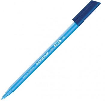 Caja 10 Rotuladores Staedtler noris club Tinta antisecado trazo 1,0mm azul claro