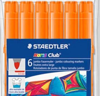 Caja  6 Rotuladores Staedtler noris club 340 jumbo naranja