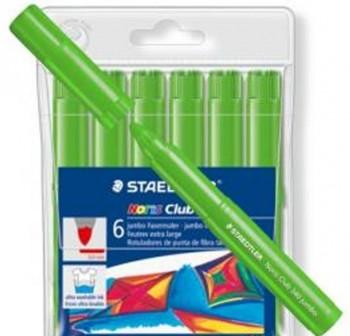Caja 6 Rotuladores Staedtler noris club 340 jumbo verde claro