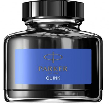 Botella Tinta Parker super quik permanente lavable 57ml azul real