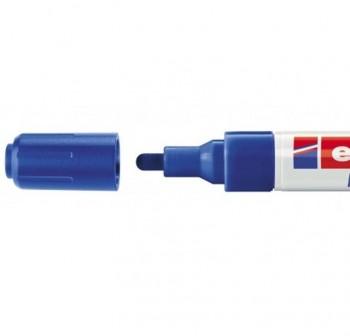 Marcador Edding 4095 de tiza liquida para pizarras y vidrio, con punta redonda trazo 2-3 mm azul