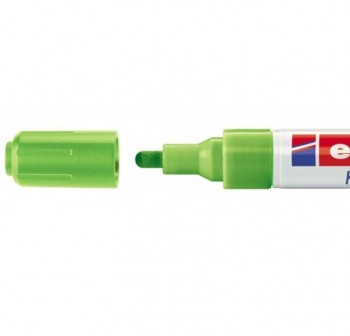 Marcador Edding 4095 de tiza liquida para pizarras y vidrio, con punta redonda trazo 2-3 mm verde cl