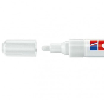 Marcador Edding 4095 de tiza liquida para pizarras y vidrio, con punta redonda trazo 2-3 mm blanco