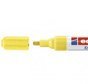 Marcador Edding 4095 de tiza liquida para pizarras y vidrio, con punta redonda trazo 2-3 mm amarillo