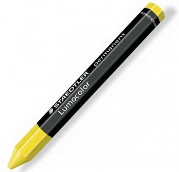 Cera Lumocolor hexagonal permanente 113mm largo x 12mm diám color amarillo
