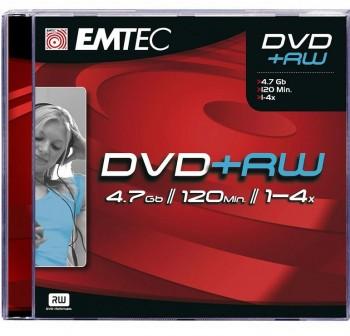 EMTEC Pack 10 DVD+RW 4.7gb 4x tartera
