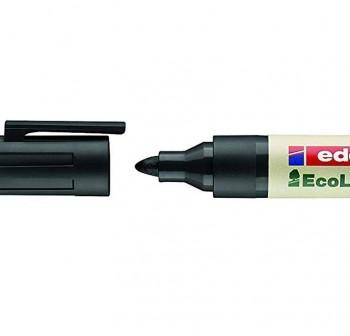 Marcador permanente ecológico ecoline edding 21 punta cónica trazo 3Mm negro