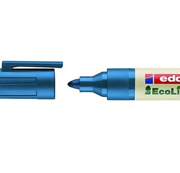 Marcador permanente ecológico ecoline edding 21 punta cónica trazo 3Mm azul