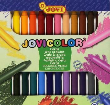 Estuche 24 ceras Jovicolor colores surtidos