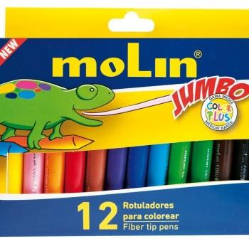 MOLIN Rotuladores 12 colores Jumbo