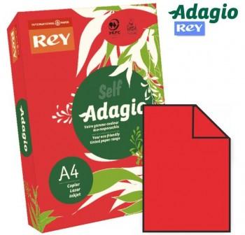 ADAGIO Paquete 500h papel color paper 80gr DINA4 rojo intenso