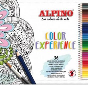 ALPINO Lapiz color estuche de 36 colores EXPERIENCE