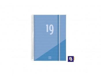 FINOCAN Agenda espiral year d/p E40 folio CELESTE 2019
