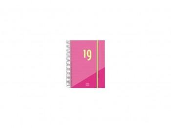 FINOCAN Agenda espiral year d/p E10 cuarto ROSA 2019