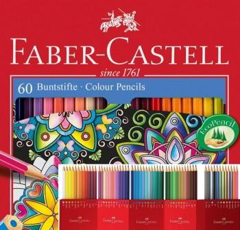FABER-CASTER Estuche con 60 lapices con estuche de carton Colores surtidos.