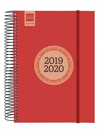 FINOCAM Agenda espiral LABEL E10 cuarto dia pagina 2019-2020 ROJO