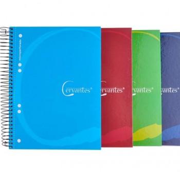 CERVANTES Cuaderno tapa dura extradura A5 120h cuadricula surtido