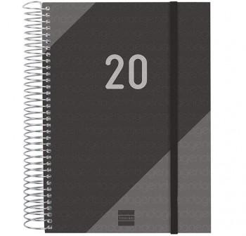 FINOCAN Agenda espiral year d/p E10 cuarto NEGRO 2020