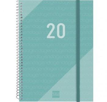 FINOCAM Agenda espiral year d/p E10 cuarto TURQUESA  2020