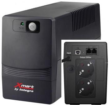 XMART SAI (UPS) supra 700VA, 230V, USB, RJ11, 2SCHUKO
