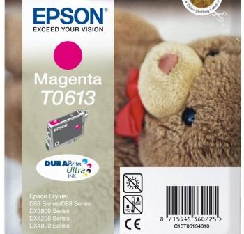 Cartucho Ink-Jet Epson C13T06134020 Blister+alarma magenta