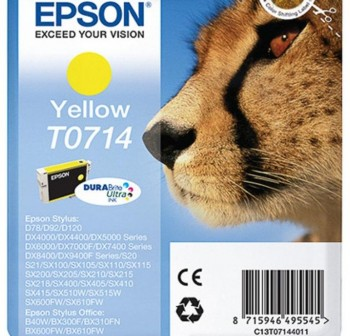 Cartucho Ink-Jet Epson C13T07144021 Blister+ alarma amarillo