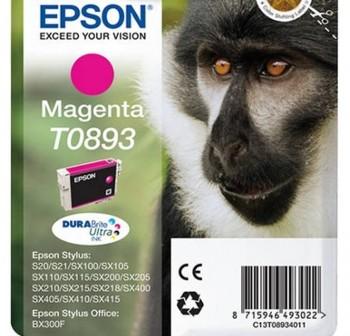 Cartucho Ink-Jet Epson C13T08934021 Blister+alarma radiofrecuencia  magenta