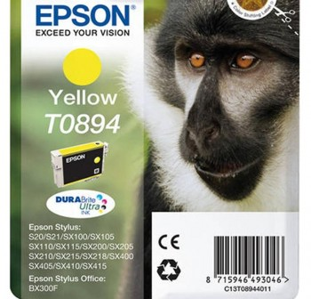 Cartucho Ink-Jet Epson C13T08944021 Blister+alarma radiofrecuencia  amarillo