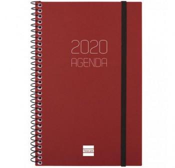 MULTIFIN Agenda espiral opaque s/v vert. E40 folio BURDEOS 2020