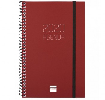 MULTIFIN Agenda espiral opaque D/P E40 folio BURDEOS 2020