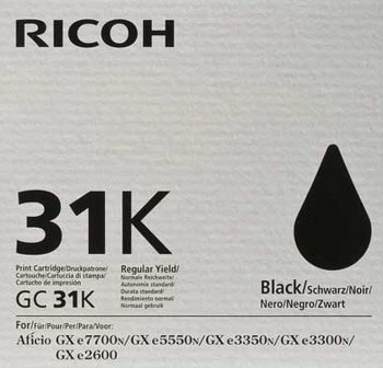 Cartucho Ink-Jet Ricoh GC31K-405688 negro