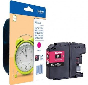 BROTHER Cartucho inkjet LC-125XLM original MAGENTA (1,2K)