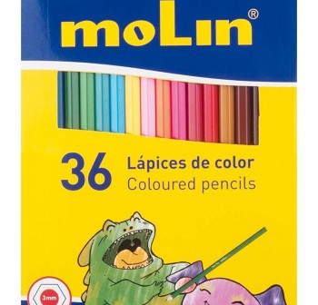 MOLIN Lapices 36 colores largos