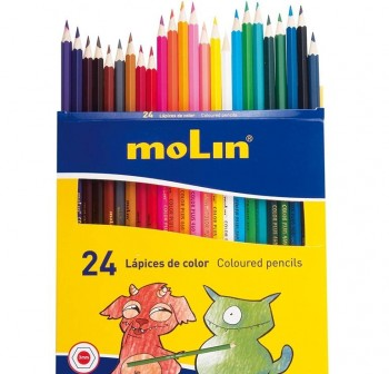 MOLIN Lapices 24 colores largos