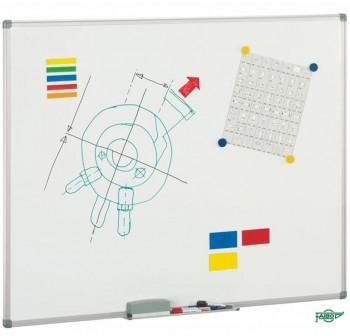 Pizarra interactiva integrada acero vitirficado mate FAIBO 122x300 marco aluminio