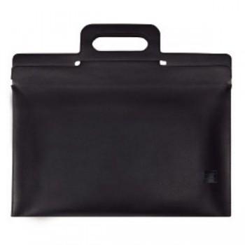 Portafolios Multifin con asa 38x34,5 cm negro