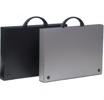 Maletín congreso pp con asa cierre 2 broches 34,5x24,54x4cm negro