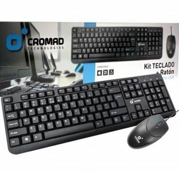 CROMAD Teclado + raton USB negro