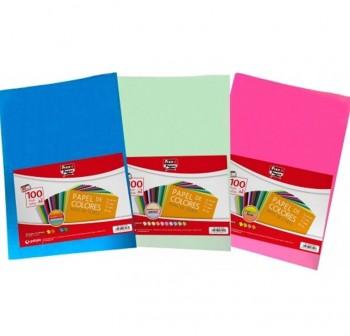 FIXO Papel colores A4 100hojas 10 colores pastel