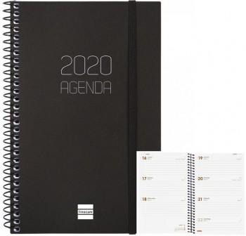 Agenda finocam espiral opaque e10 dia página 15,5x21,5cm negro