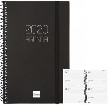Agenda finocam espiral opaque e10 semana vista 15,5x21,5cm negro