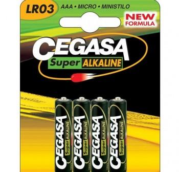 CEGASA Pila recargable LR03 (4) 1000mAh AAA