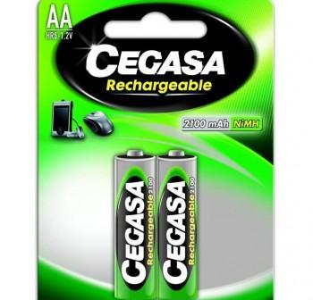 CEGASA Pila recargable LR06 (4) 2700mAh AA