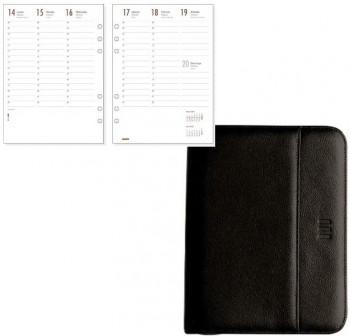 Agenda finocam open 1000 cremallera lex semana vista 15,5x21,5cm negro