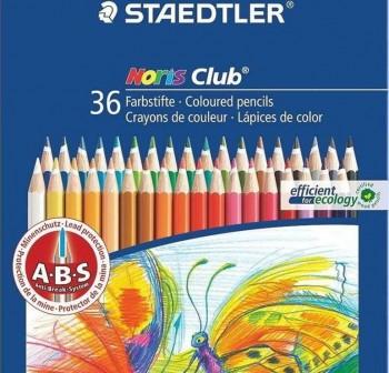 STAEDTLER Estuche 36 lapices de colores noris club colores surtidos
