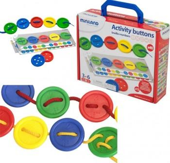 MINILAND Activity buttons 40 pcs - Maletín
