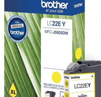 BROTHER Cartucho inkjet LC-22EY original AMARILLO (1,2k)