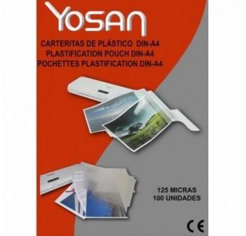 YOSAN Laminas plastificar 62x91 125 micras (100uds)