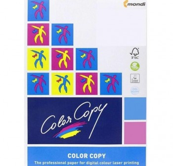 Pack 125h papel color copy 250gr A4